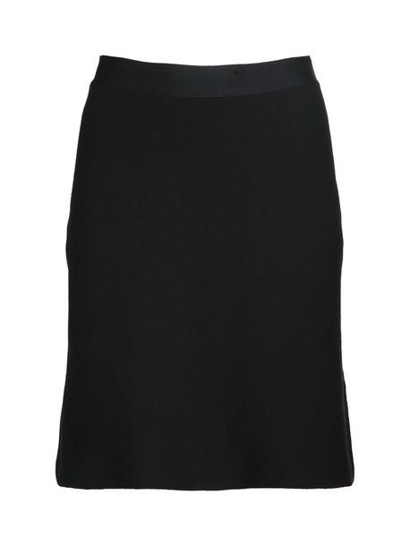 BOTTEGA VENETA Wool Blend Knit Mini Skirt in black