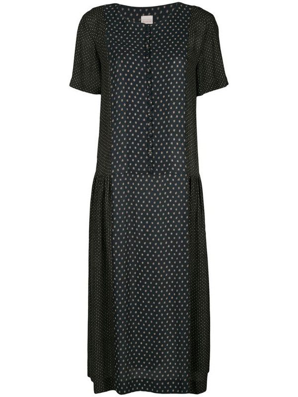 Zanini patterned midi dress in blue
