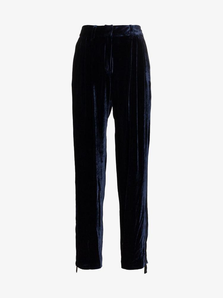 Magda Butrym velvet jena trousers in blue