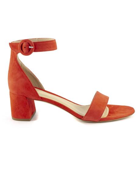 Aldo Castagna Red Suede High-heel Ginevra Sandals
