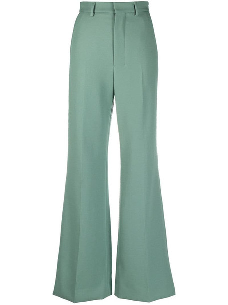 AMI Paris flared tailored trousers in green