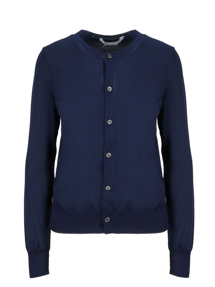 Comme Des Garçons Button-up Cardigan in navy