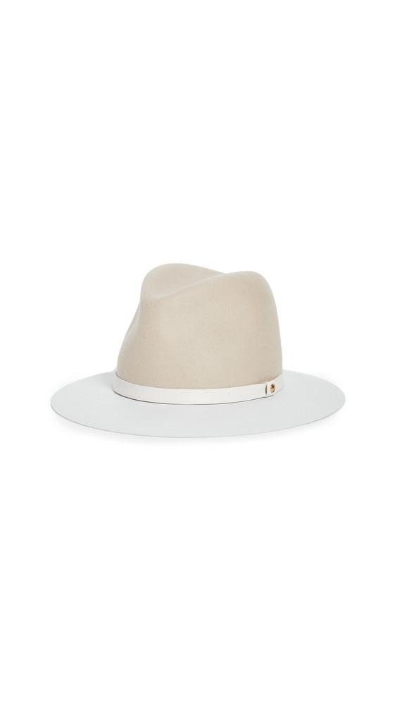 Rag & Bone Floppy Leather Brim Hat in beige