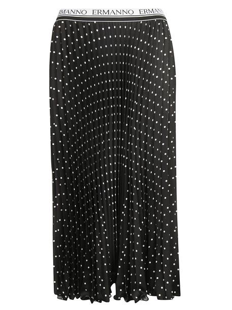 Ermanno Ermanno Scervino Polka-dot Skirt in nero / bianco