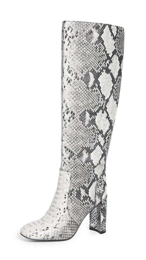Jeffrey Campbell Entuit Tall Boots in black / white