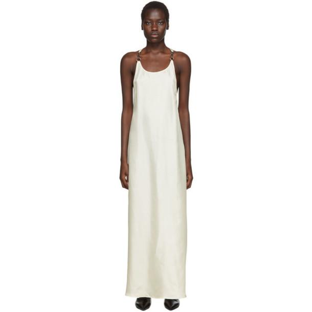 Rudi Gernreich White Silk Buckle Dress
