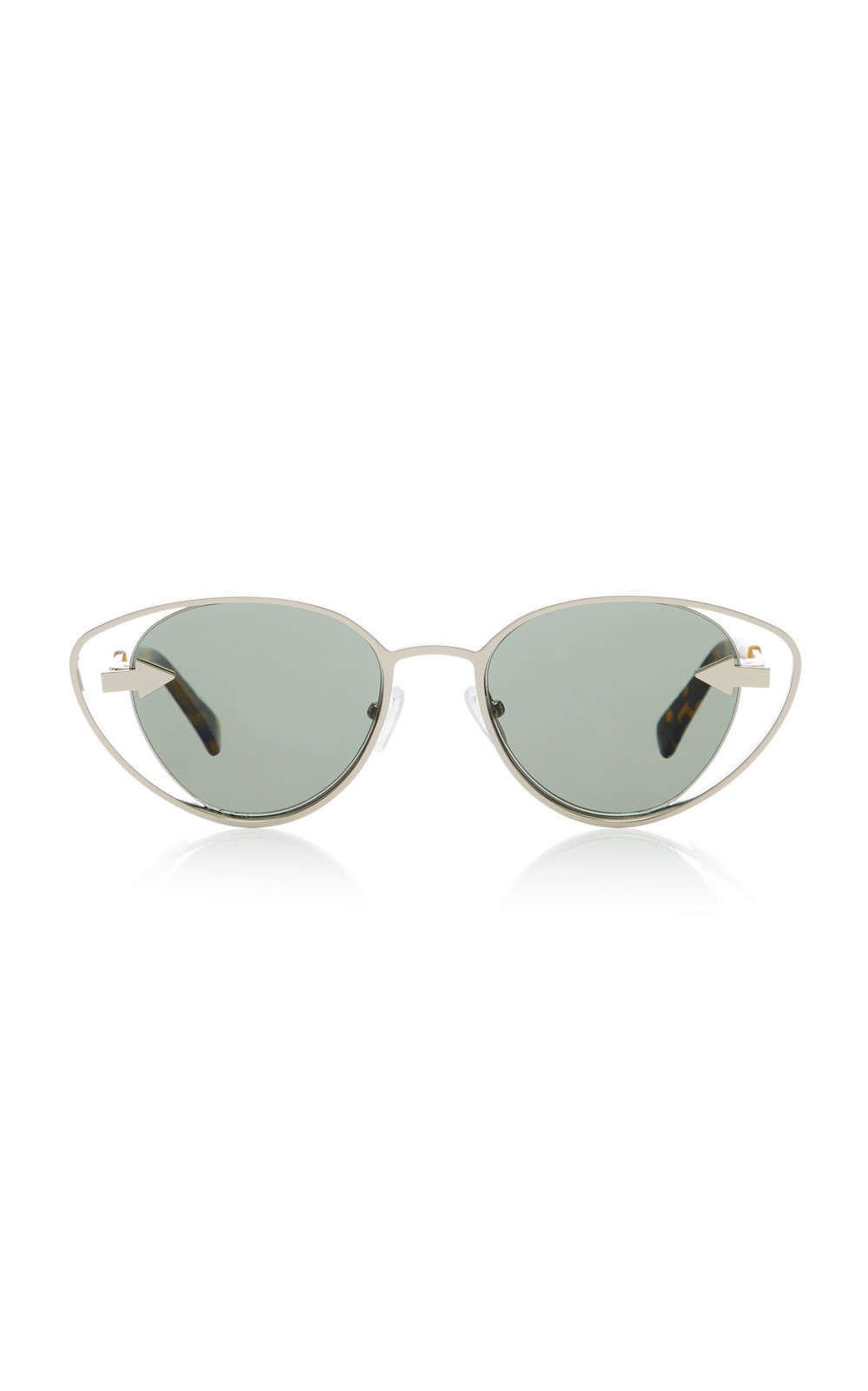 Karen Walker Kissy Kissy Cat-Eye Sunglasses in gold