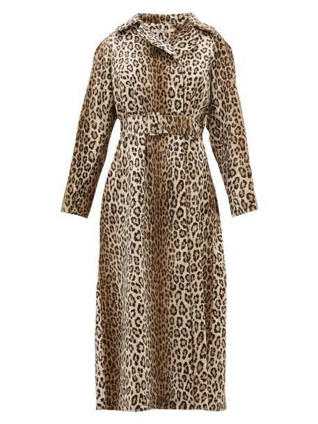 Emilia Wickstead - Jill Double Breasted Leopard Print Coat - Womens - Leopard