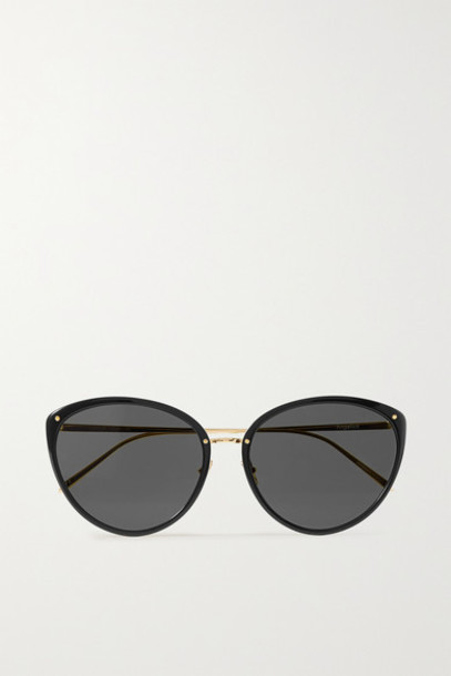 Linda Farrow - Cat-eye Acetate And Gold-tone Sunglasses - Black