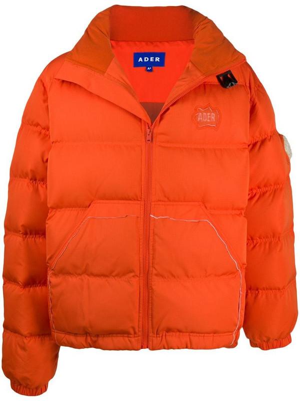 Ader Error Mask down-feather jacket in orange