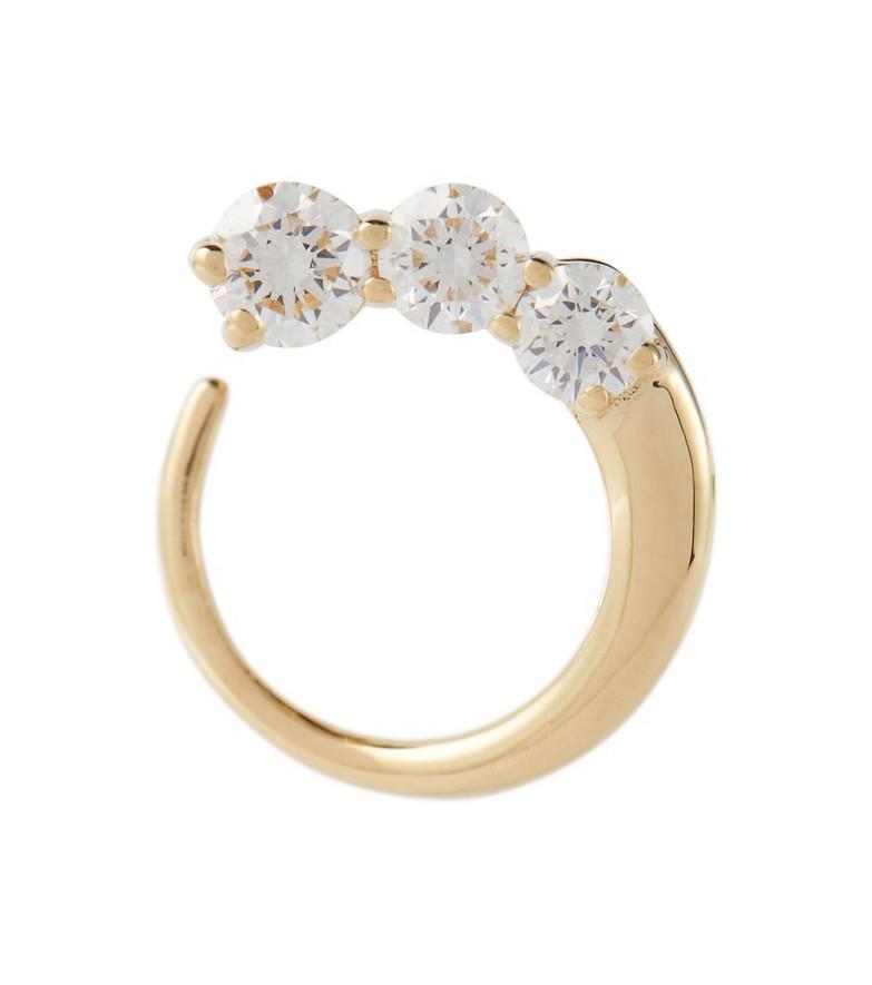 Melissa Kaye Aria Earwrap 18kt yellow gold single earring with diamonds