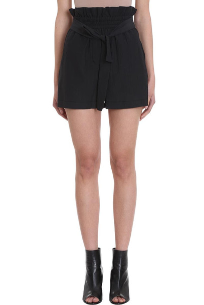 3.1 Phillip Lim Paperbag Black Cotton Shorts