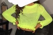 top,neon green top