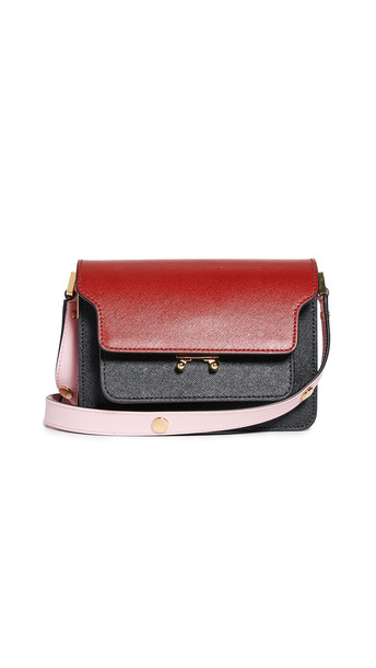 Marni Trunk Bag in black / red