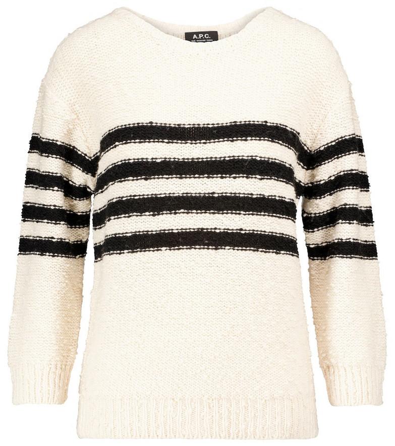 A.P.C. Luzia merino wool-blend sweater in white