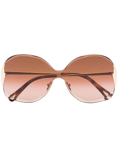 Chloé Eyewear Curtis square-frame sunglasses in brown