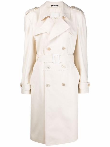 Maison Margiela contrast-stitch trench coat - Neutrals