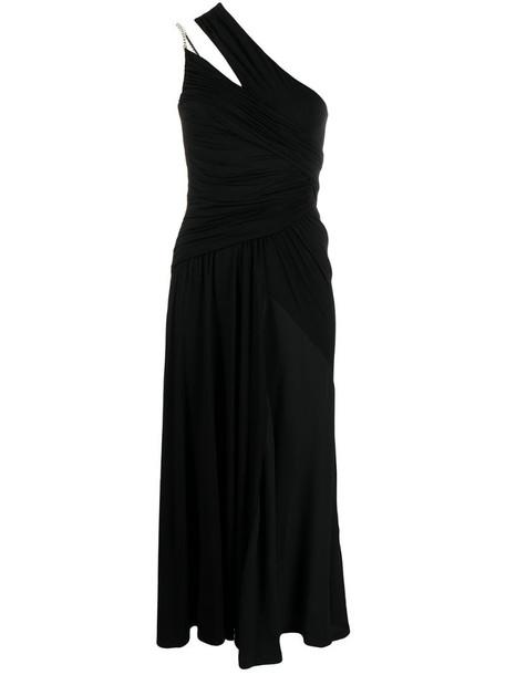 Nº21 chain-trim midi dress in black