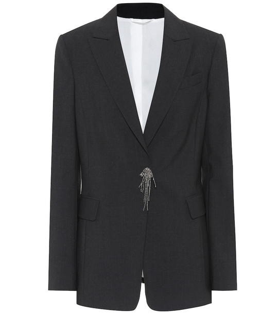 Brunello Cucinelli Wool-blend blazer in black
