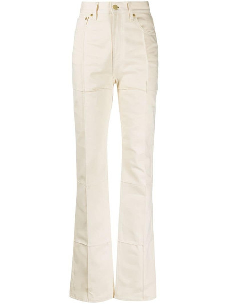 Jacquemus organic cotton bootcut jeans in neutrals