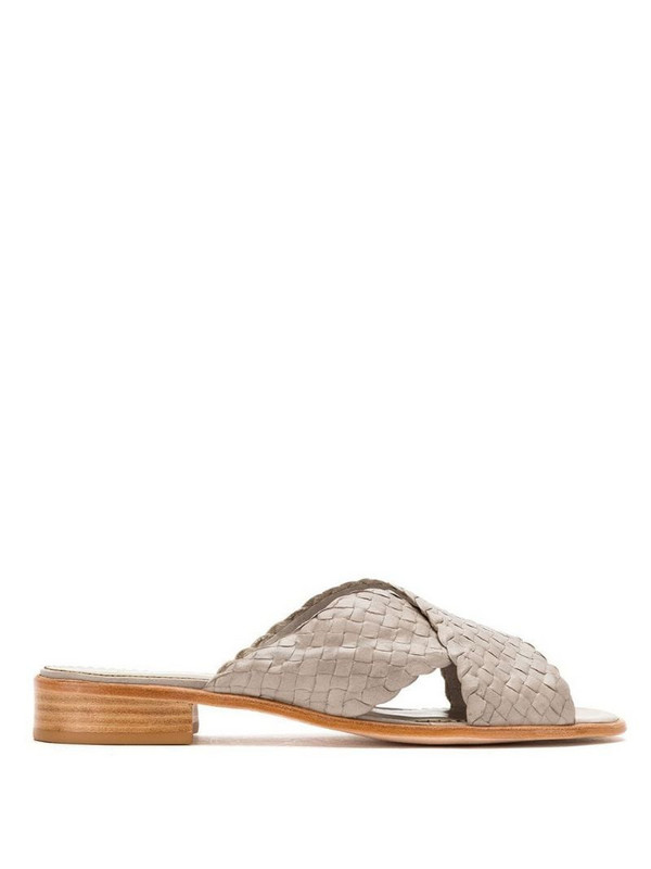 Sarah Chofakian crossover strap sandals in grey