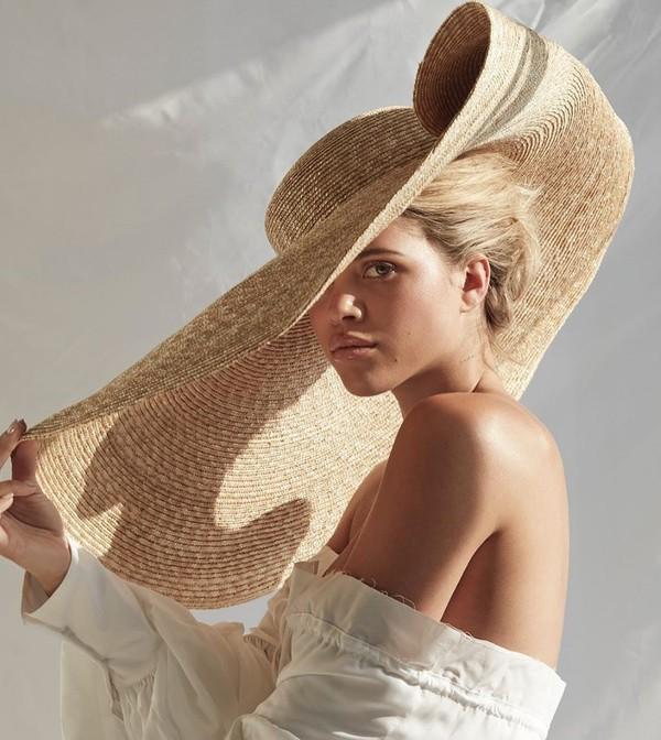 hat straw hat sofia richie model instagram summer accessories