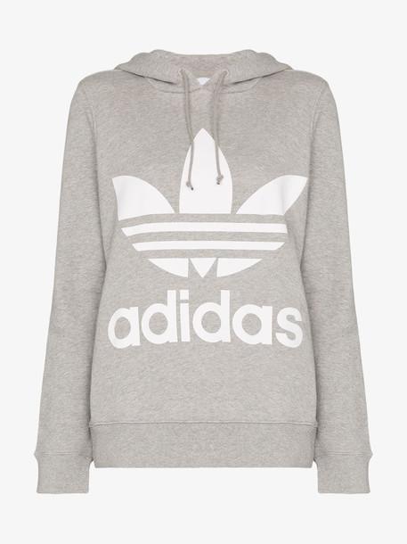 Adidas ADI ORIG TREFOIL LOGO HOODIE in grey
