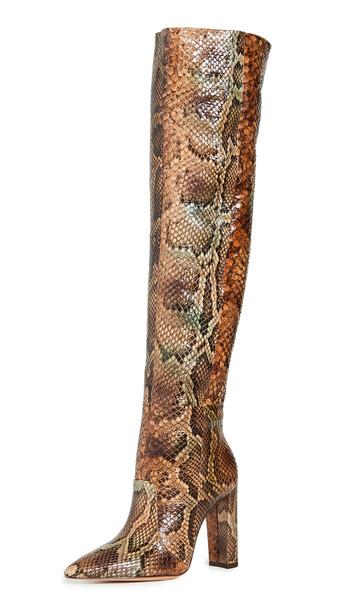Alexandre Birman Elisa 100mm Exotic Boots in multi