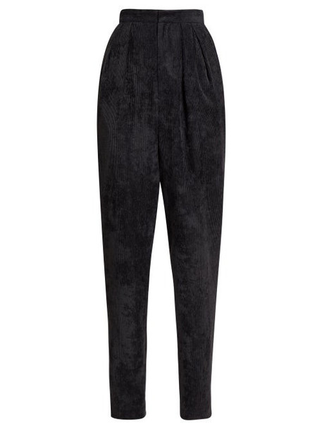 Isabel Marant - Fany Corduroy High Rise Trousers - Womens - Black