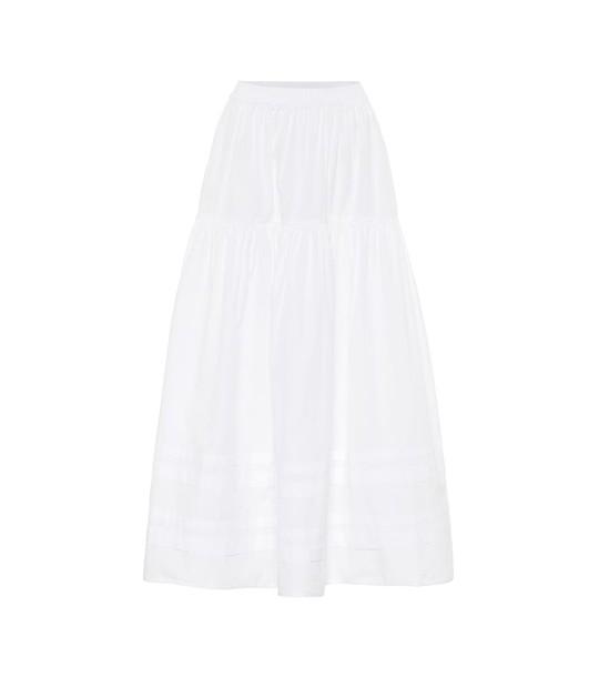 Cecilie Bahnsen Eiko cotton-poplin midi skirt in white