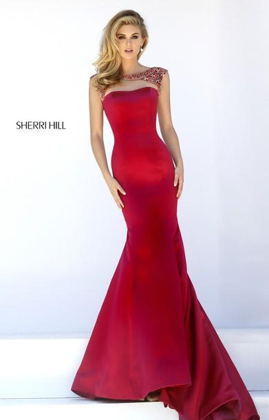 dress red dress sherri hill 32351
