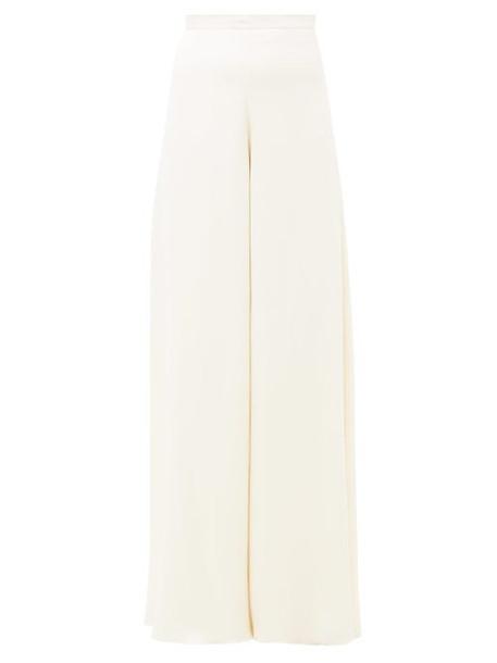 Temperley London - Castalia Silk-satin Palazzo Trousers - Womens - Ivory