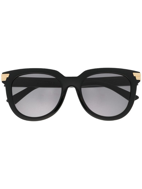 Bottega Veneta Eyewear oversized round-frame sunglasses in black