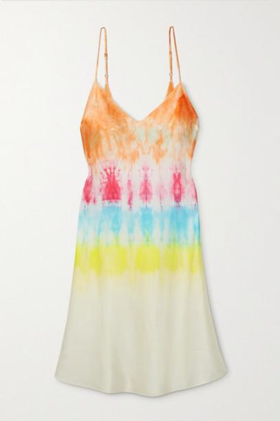 DANNIJO - Tie-dyed Silk-satin Mini Dress - Pink