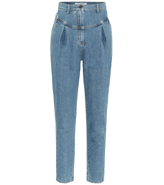Philosophy Di Lorenzo Serafini High-rise slim jeans in blue