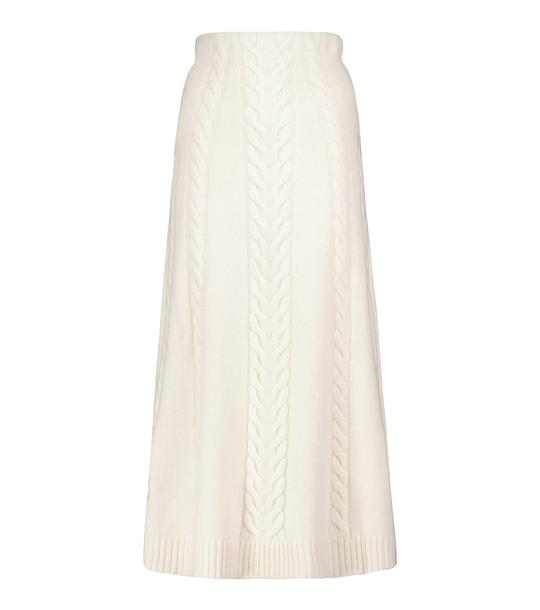 Jonathan Simkhai Jovie wool and alpaca-blend knit midi skirt in white