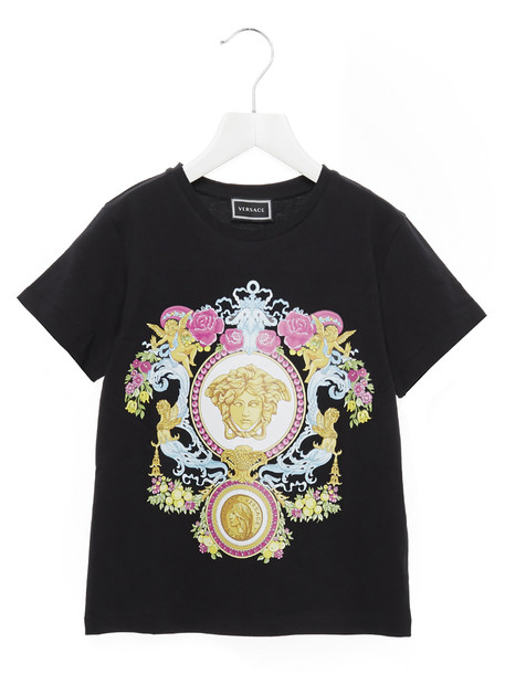 Young Versace medusa Angioletto T-shirt in black