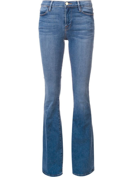 FRAME flared jeans in blue