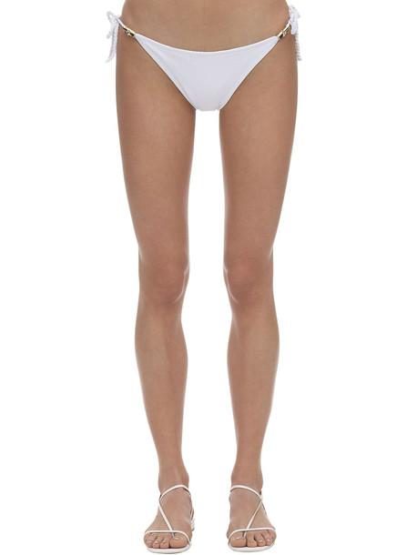 HEIDI KLEIN Bikini Bottoms W/ Rope Side Ties in white