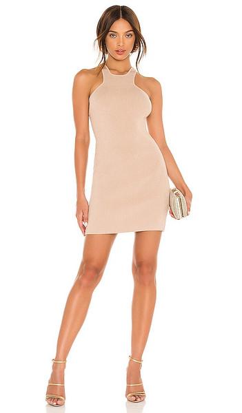 GAUGE81 Avila Mini Dress in Nude in natural