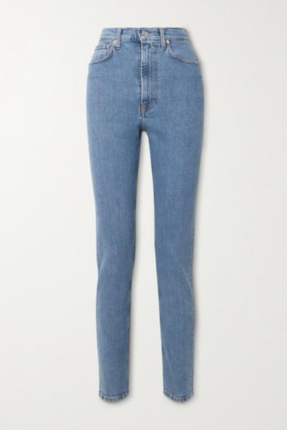Helmut Lang - Femme Hi Spikes High-rise Straight-leg Jeans - Mid denim