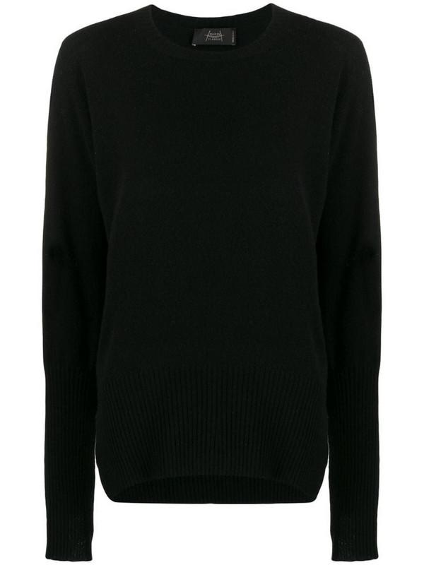 Maison Flaneur side-slit cashmere jumper in black