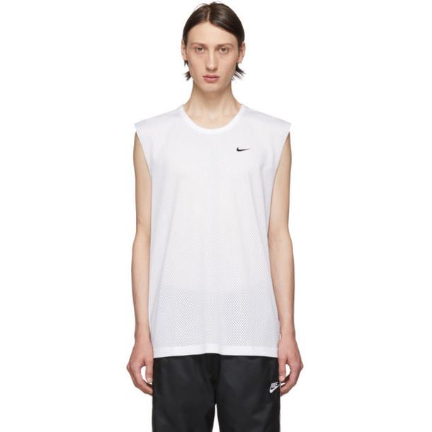 Nike White NRG Tank Top