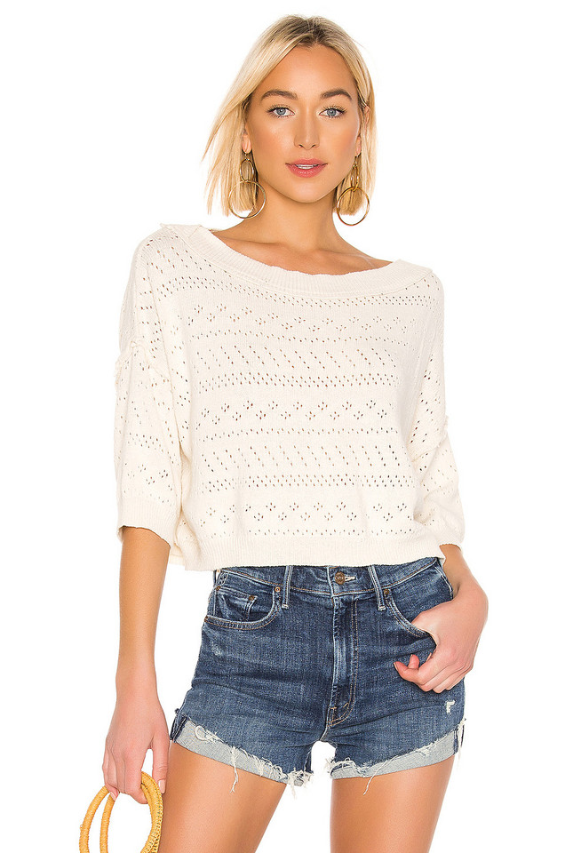 Free People Sand Castle Sweater in ivory