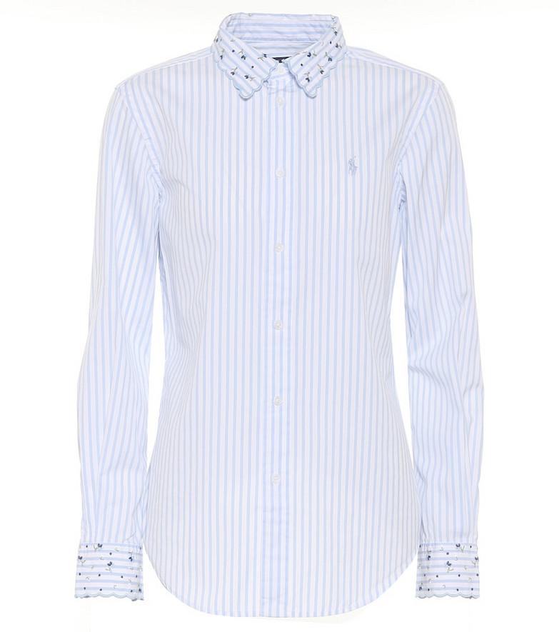 Polo Ralph Lauren Striped cotton shirt in blue