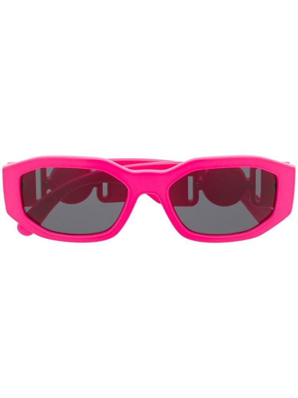 Versace Eyewear Medusa Biggie oval frame sunglasses in pink