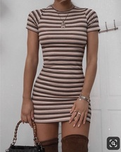 dress,fall outfits,fall colors,stripes