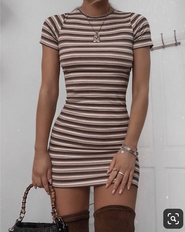 dress fall outfits fall colors stripes