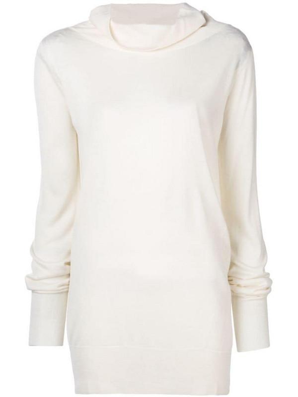 Eleventy knitted sweatshirt in white