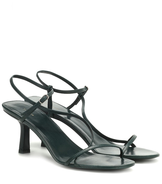 The Row Bare leather sandals in green